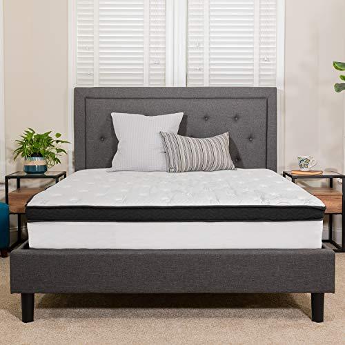Flash Furniture Capri Comfortable Sleep 12 Inch Memory Foam and Pocket Spring Mattress, Queen Mattress in a Box