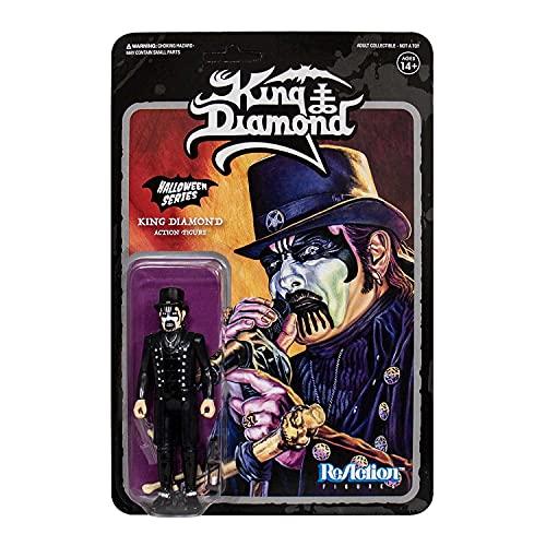 SUPER7 King Diamond ReAction Figure - King Diamond Top Hat HEAVY, DEATH, BLACK METAL