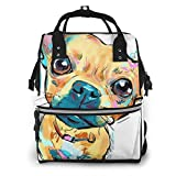 Lindo perro divertido perrito bolsa de viaje mochila multifunción familia bebé bolsa para mujeres hombres