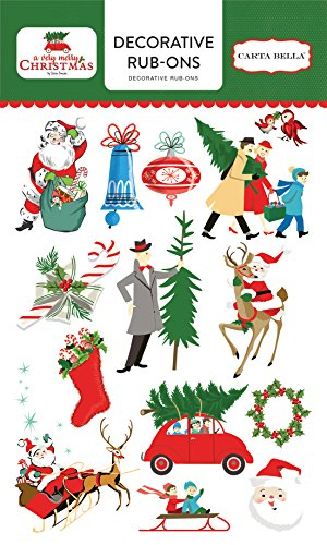 Carta Bella Paper Company Merry Christmas Rub Ons
