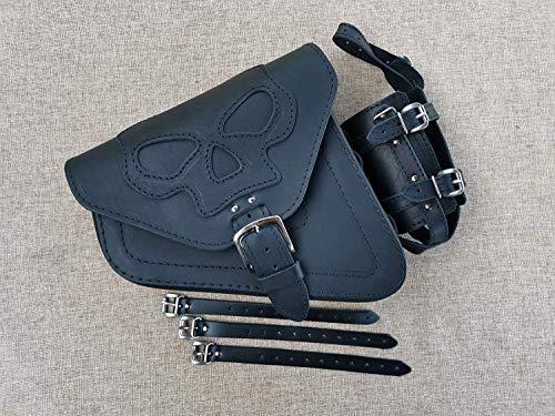 Seitentasche Skull Black von Orletanos kompatibel mit Bobber HD Custom Chopper ORLETANOS schwarz Biker neu Harley Davidson Sportster Sporty 883 1200 XL