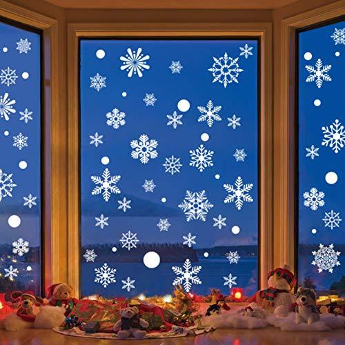 Schneeflocken Fensterdeko,Aufkleber Schneeflocken,Weihnachten Fensteraufkleber, Schneeflocken Fensterbild, weihnachten fensteraufkleber, Fensterdeko Winterdeko, fensterbilder weihnachten statisch