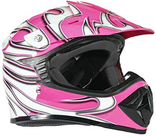 Typhoon Youth Dirt Bike Helmet Off Road ATV Motorcycle MX Kids Motocross - Pink - X-Large