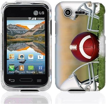 For LG Optimus Zone 2 Fuel Football Helmets plastic cover case