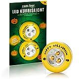 com-four® 2X LED-Licht für Halloween - Blinkende Kürbis LED Lichter
