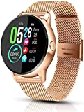 Smart Watch, Fitness &Activity Tracker Touch Screen <span class='highlight'>Bluetooth</span> <span class='highlight'>Smartwatch</span>, IP68 Waterproof Sports Watch with Blood Pressure Pedometer/Step Counter/Sleep Monitor for Men Women