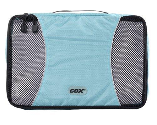 Organizer Valigia, GOX Premium Nylon 420D Portatile Cubi Deposito Imballaggio / Cubi Organizzatori da Viaggio / Travel Bagagli Valigia Accessori / Organizzatori di Viaggi con Gancio (Medium, Blu)