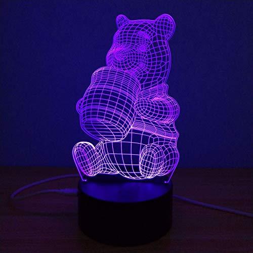 Led-nachtlampje, nachtlampje met 7-kleurig wisselend nachtlampje, schattig beertje drinkwater, kinderkamer, hal, kinderkamer, kerstcadeau,