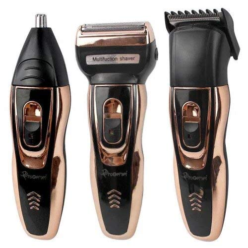 abgrow 595 wireless 3-in-1 Beard Nose & Ear trimmer shaving zero machine grooming kit system (Multi-color)