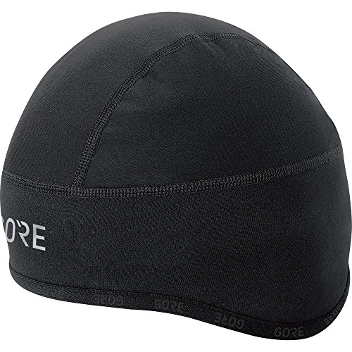 GORE Wear Winddichte Herren Fahrrad-Mütze, C3 WINDSTOPPER Kappe, Größe: 60-64, Farbe: Schwarz, 100398