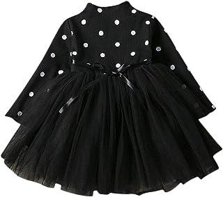 DEBAIJIA Bébé Filles Robe 1-3 Ans Gaze Tutu Princesse Robes Infantile Toddler Fête Tulle Jupe Sangle Taille Manches Longue...