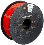 AmazonBasics - Filamento per stampanti 3D, in polilattato (PLA), 1,75mm, rosso traslucido, 1 kg per bobina