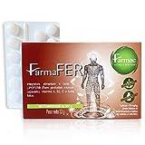 FarmaFer integratore Ferro | 60 pastiglie con Ferro, Vitamine A, B2, C e Acido Folico | Ferro...