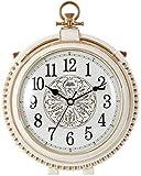 LIUFEI Relojes de Pared Reloj de Pared Mesa silenciosa, Escritorio sin tictac Alarma de la batería Alarma de Cuarzo Vintage para Habitaciones Decoración de Sala de Estar