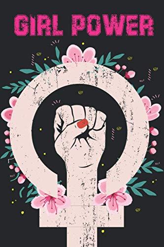 GIRL POWER: Cuaderno a rayas mediana, bonita, feminista. | Regalo perfecto, original y divertido para mujer, chica, niña, adolescente, novia o compañera. | Libreta para cualquier ocasión. 120 páginas.