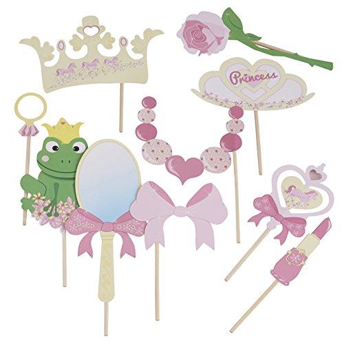 Photo Booth Prinzessin, Fotozubehör, Party Accessoires für Fotoecke und Ihre Kindergeburtstagsfeier