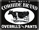 Cowhide Brand Overalls Porcelain Refrigerator Magnet