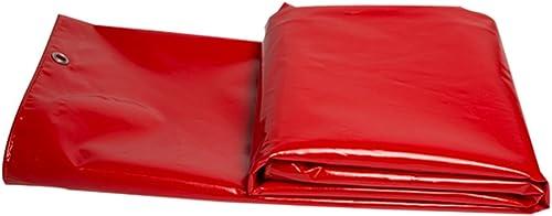 Refuge de camping Bache imperméable rouge, bache extérieure de bache de prougeection d'ombre de bache de camion, résistant à hautes températures et anti-vieillissement, ( Couleur   A , taille   4 x 4m )