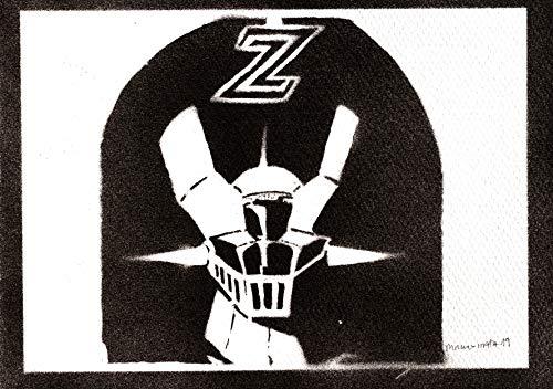 Poster Robot Mazinger Z Handmade Graffiti Street Art - Artwork