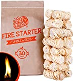 Fire Starters for Fireplace - Charcoal Tumbleweed...