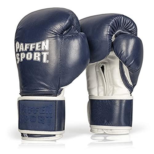 PRO Klett Boxhandschuhe für das Sparring Gewicht: 12uz Farbe: Navyblau/weiß