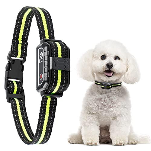 Collar Antiladridos con Sonido y Vibración, Collar Ladrido de Perro Automático y Recargable para Perros Pequeños, Medianos y Grandes, Impermeable IP67