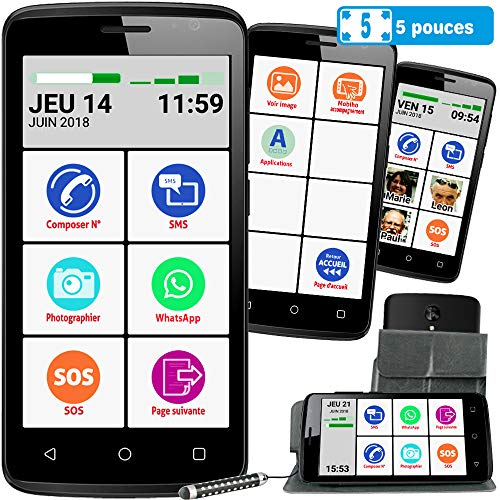 Mobiho-Essentiel Le SMART INITIAL 5 pouces, interface senior...