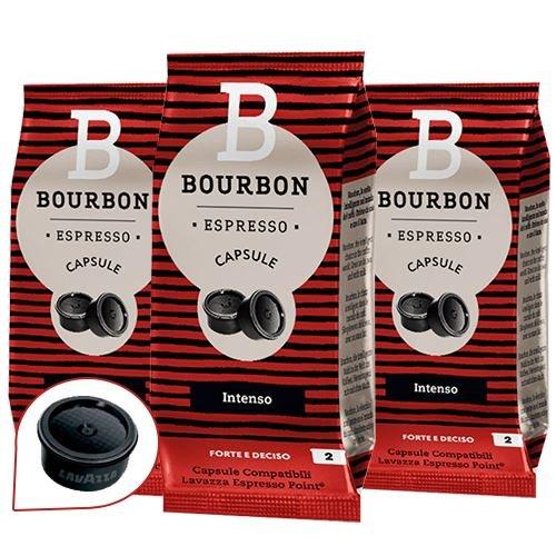 Bourbon 300 Capsule Compatibili Lavazza Espresso Point ' Intenso '