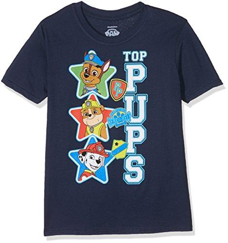 PAW PATROL Jungen Top Pups T-Shirt, Blau (Navy), 5-6 Jahre (Hersteller Größe:S)