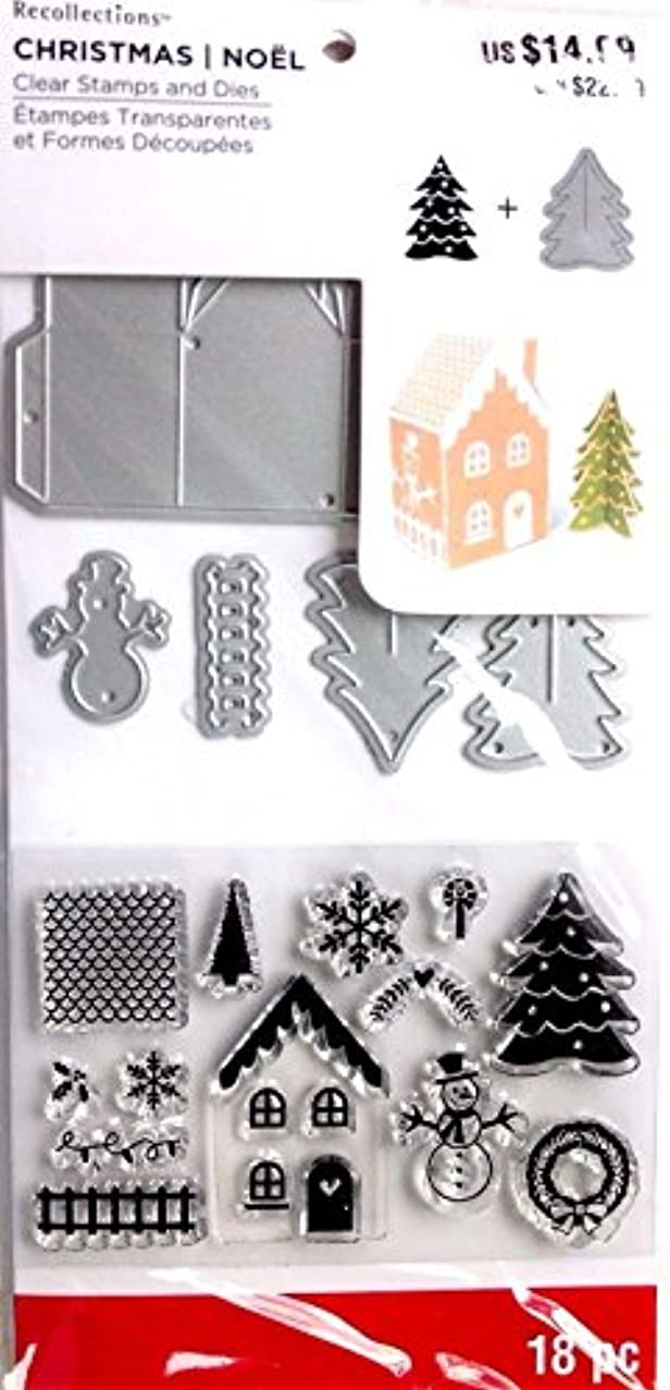 Recollections Christmas Clear Stamps GINGERBREAD HOUSE 18 piece