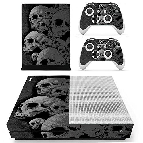 DOTBUY Vinile modello skin sticker decalcomanie della pelle per Xbox One S Console & Wireless Controller (Skulls)