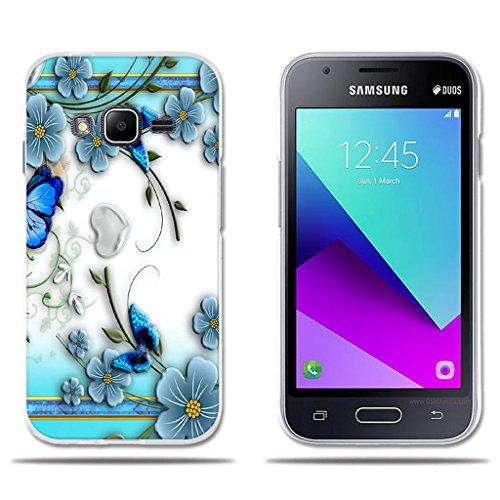 fubaoda Funda Samsung Galaxy J1 Mini Prime Hermoso Dibujo en Relieve de Mariposas, Flexible Funda Protectora Anti-Golpes para Samsung Galaxy J1 Mini Prime