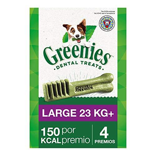 Snack dental Greenies Large para perros de más de 23kg, bolsa de 170g (Pack de 6)