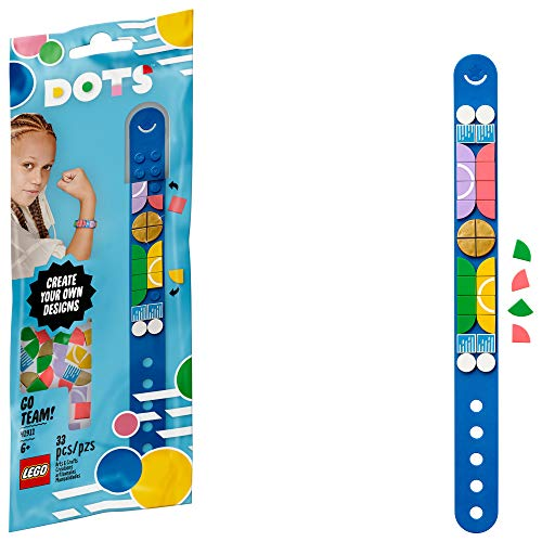 LEGO DOTS Go Team Bracelet 41911, Cool DIY Craft; An Inspiring Kit for Kids who Want to Make Creative Sports Bracelets; Makes a Birthday or Holiday Gift, New 2020 (33 Pieces)
