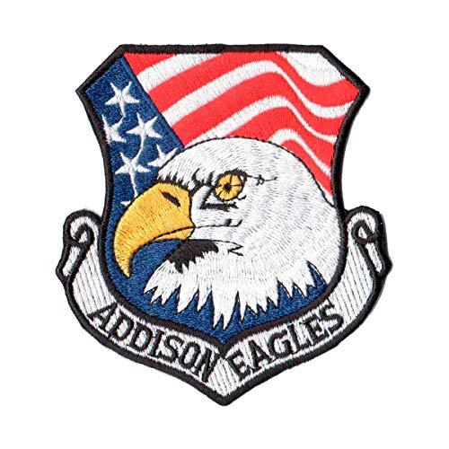 Patch Bordado - Addison Eagles Eua Us Air Force AV20022-135 Termocolante Para Aplicar