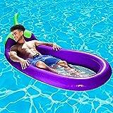 SUNSHINE-MALL - Colchón neumático para natación, flotador de piscina, tumbona hinchable, colchón neumático, natación de verano, deportes náuticos, juguetes de playa (250 x 110 cm)