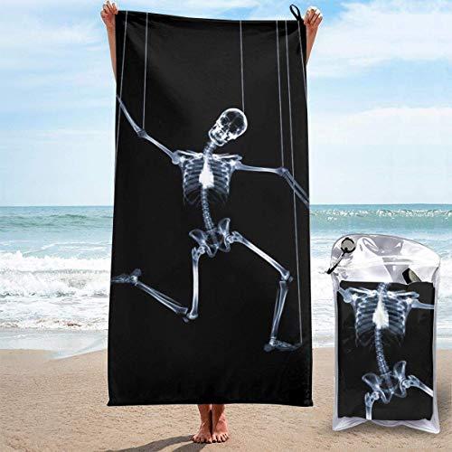 Bathroom Towels Shower Towels Toallas de playa ligeras, Calavera de Halloween Beach Towels 140 X 70