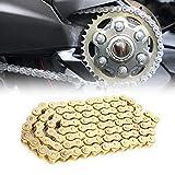 Catena di trasmissione per moto Heavy Duty Premium 420 Catena di trasmissione per moto 420 Catena di trasmissione per dirt bike, per 50110 125cc PIT Quad Dirt Bikes Kart