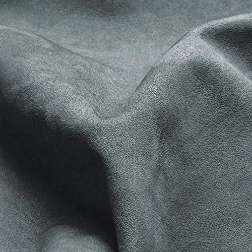 SA ROCA® 39,41€/m² Selbstklebender Mikrofaserstoff I Premium Auto-Folie für hochwertige Wildleder-Optik im Innenraum I Folie für samtige Veloursleder-Optik im Auto [Anthrazit I 50 x 152cm]