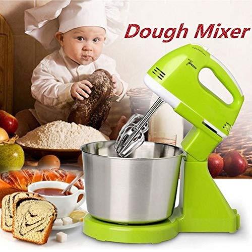Keuken Elektrische Stand Mixers, 2.5L Roestvrij Staal Mixing Bowl, 7-Speed Keuken Mixers, Food Mixer Met Deeghaak, Wire Whip & Beater,Green