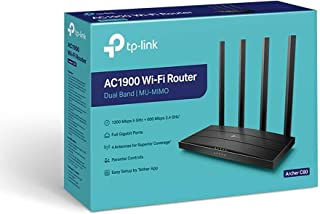 TP-LINK AC1900 Archer C80 Wi-Fi Router high speed Dual Band Full Gigabit Ports 10x Faster - 4 Antennas for Superior Covera...