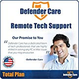 Defender Care Remote Tech Support Repair for PC and Mac, USA Based Certified Techs, 24 Hour Completion, Total Maintenance Plan, 4 Tech Support Calls included, 90 Day Warranty