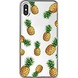iPhone Android対応 スマホケース 携帯ケース iphoneケース スマホ スイカ レモン オレンジ イチゴ リンゴ パイナップル ピーチ マスカット フルーツ パターン(デザイン:パイナップル) 18 Docomo XPERIA XZ2 Premium(SO-04K)