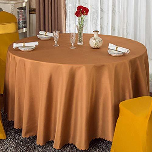 Lotto all'ingrosso Banchetto da hotel in poliestere bianco solido Tovaglia rotonda Ristorante Tovaglia in oro rosso Tovaglia per decorazioni per feste 200 cm