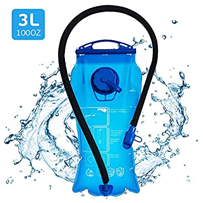 Hydration Bladder 3 Liter, UBEGOOD Leak Proof Water Reservoir, Double Opening Water Bladder for Hydration Pack, with Insulated Tube, BPA Free Water Bag for Backpacking, Biking, Hiking, Camping