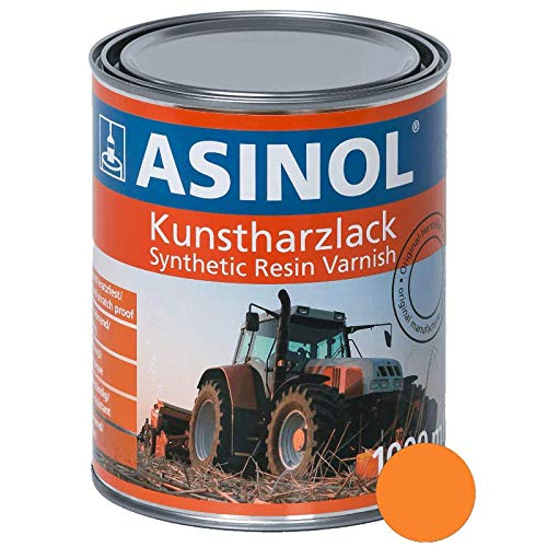 ASINOL HANOMAG ORANGE 1.000 ml Kunstharzlack Farbe Lack 1l Liter Dose