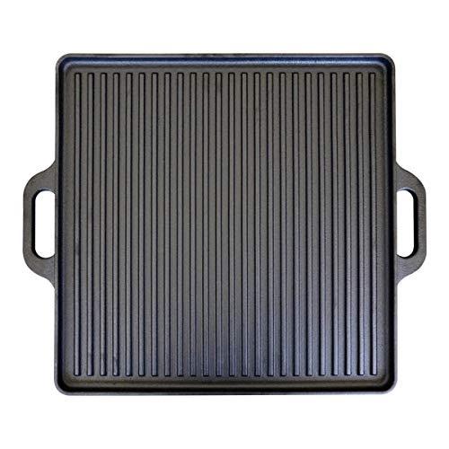 CAGO Wendeplatte aus Gusseisen | Plancha für den Grill 40 x 40 cm beidseitig verwendbar