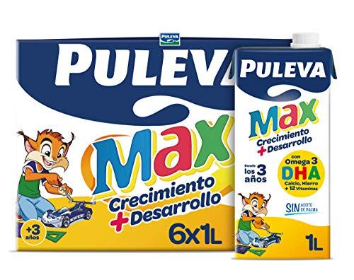 Puleva Max Leche de Crecimiento y Desarrollo - Pack 6 x 1Lt