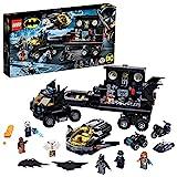 LEGO 76160 Super Heroes Batbase Móvil Juguete de Construcción con Batcueva, Camión con Avión Jet, Quad, Moto y Moto Acuática