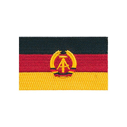 40 x 25 mm DDR Flagge Ost-Berlin Germany Flag Patch Aufnäher Aufbügler 0676 A